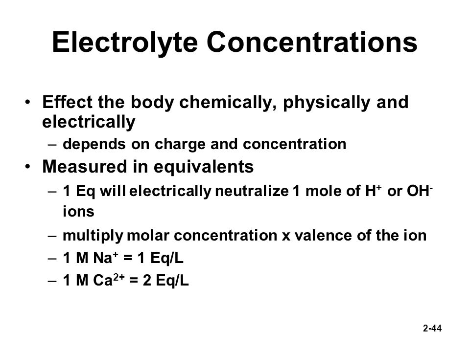 Electrolyte Concentrations