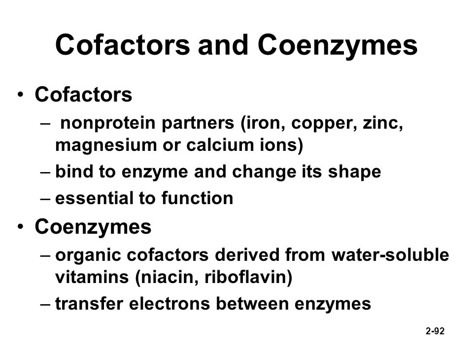 Cofactors and Coenzymes