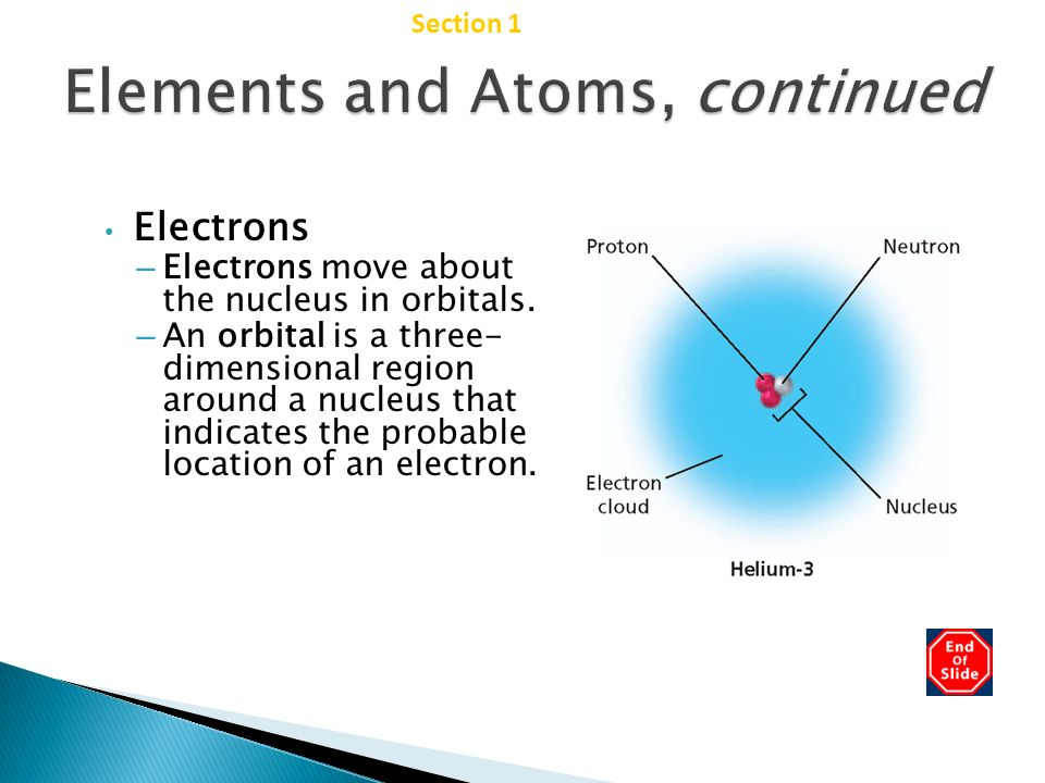 Elements and Atoms, continued