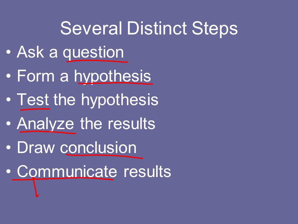 Several Distinct Steps
