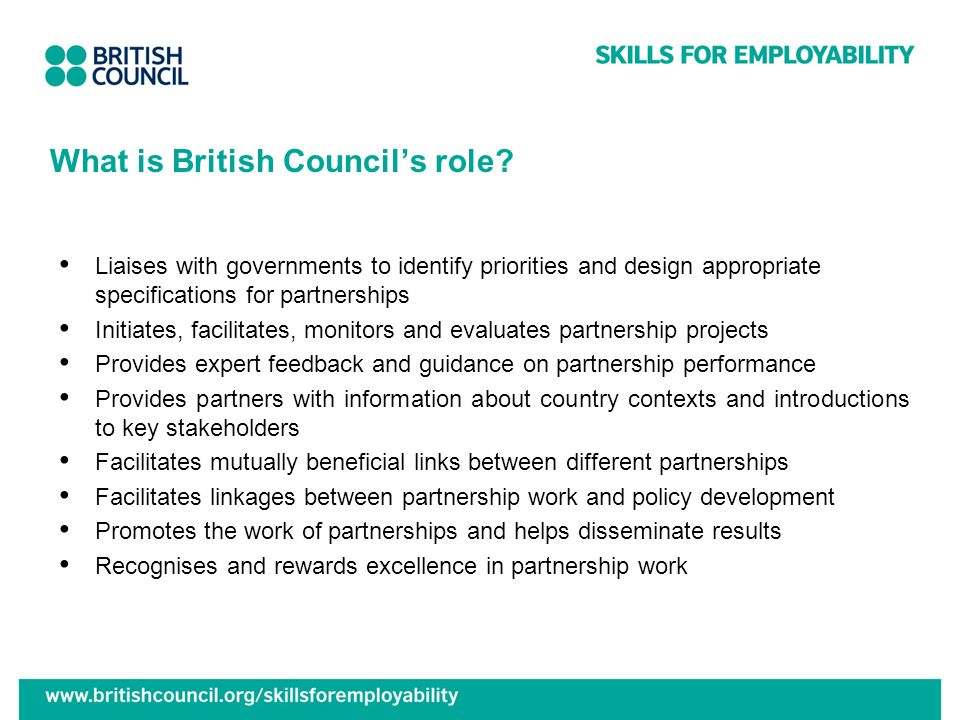 What is British Council's role