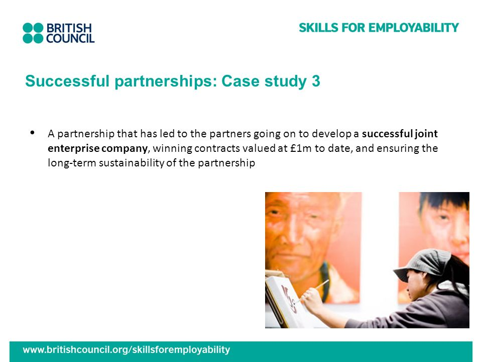 Successful partnerships: Case study 3