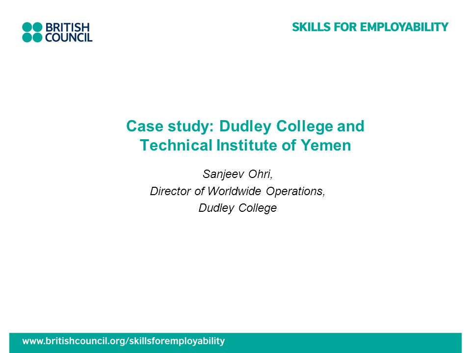 Case study: Dudley College and Technical Institute of Yemen