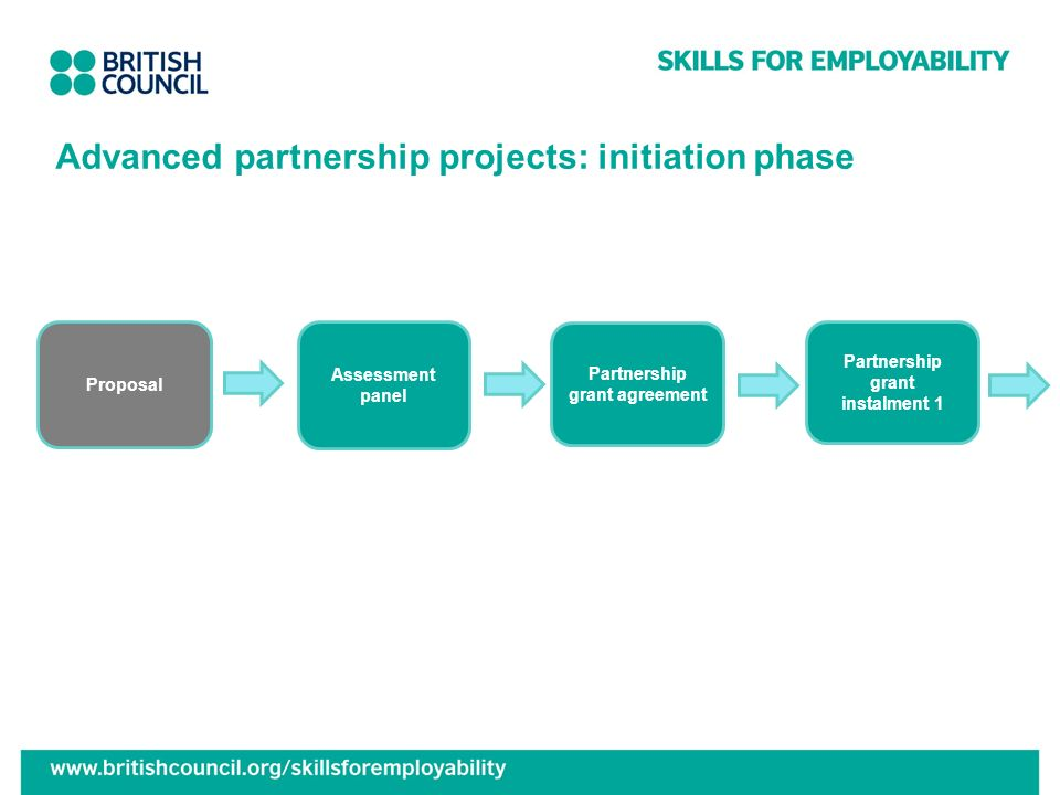Advanced partnership projects: initiation phase