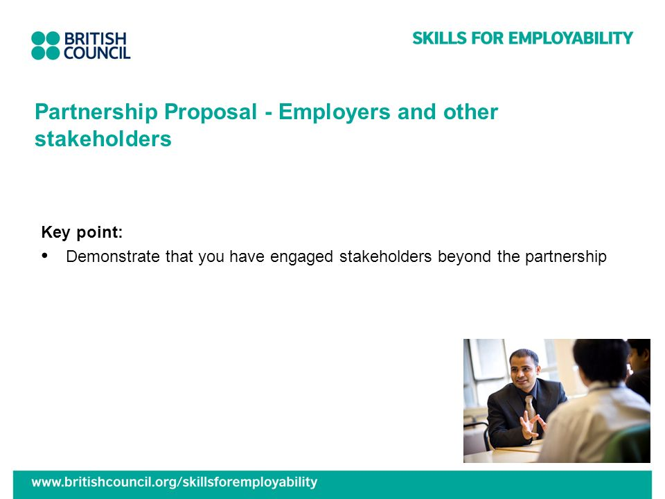 Partnership Proposal - Employers and other stakeholders