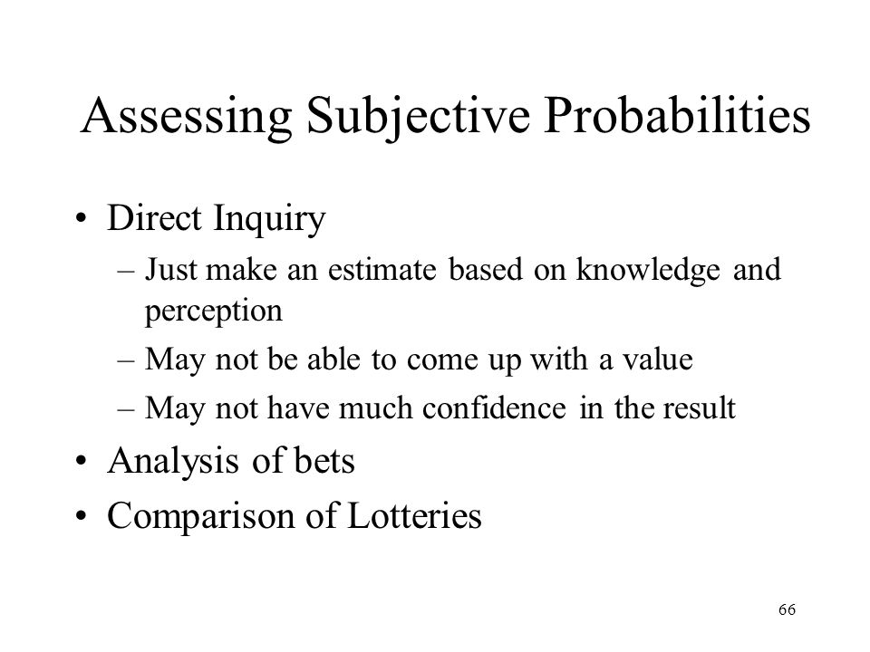 Assessing Subjective Probabilities