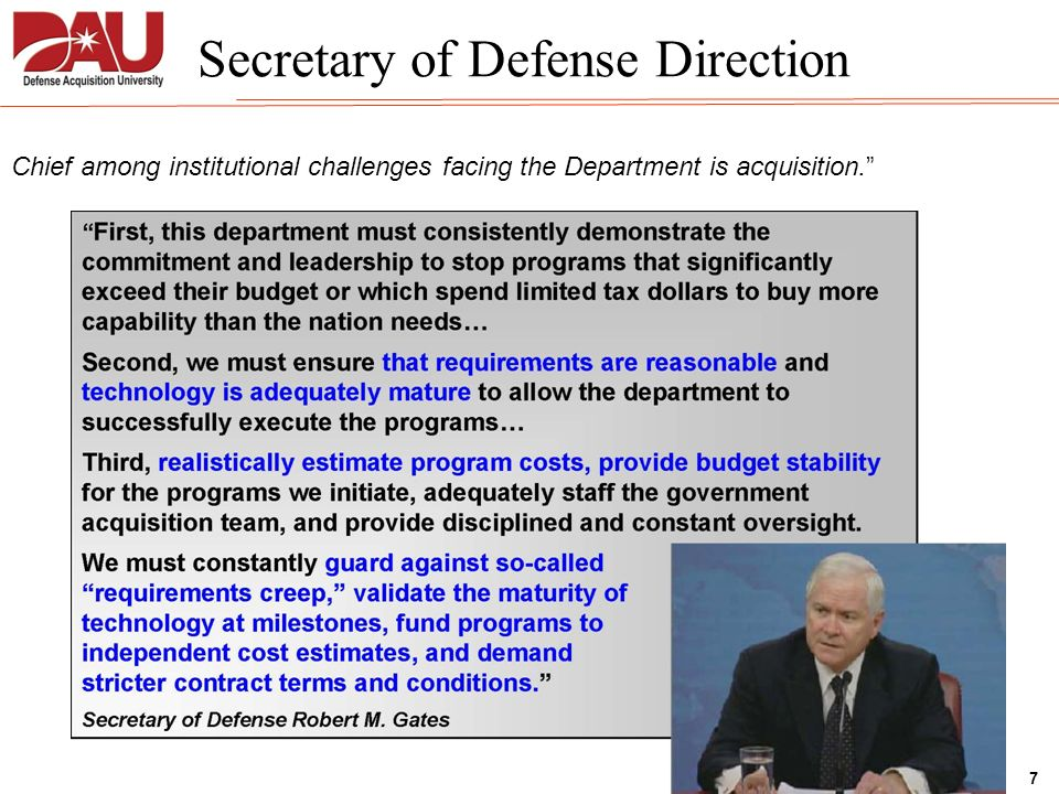 Secretary of Defense Direction