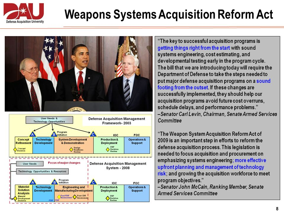 Weapons Systems Acquisition Reform Act