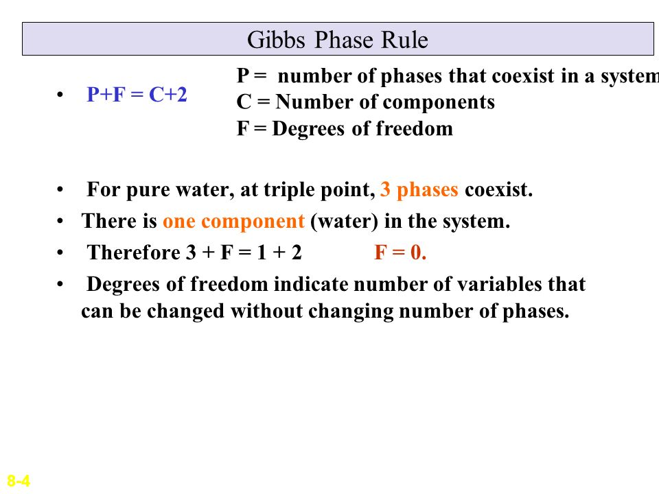 Lecture 9 phase diagrams ppt video online download gibbs phase rule p number of phases that coexist in a system ccuart Gallery