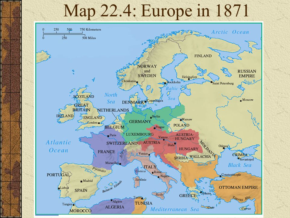 Map Of Europe In 1871.Carte De Europe Ppt Download
