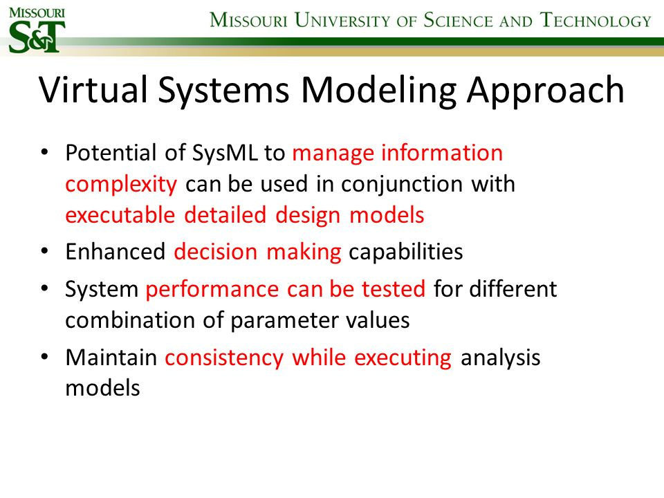 Virtual Systems Modeling Approach