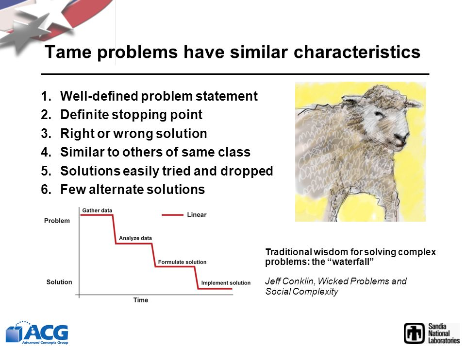 Tame problems have similar characteristics