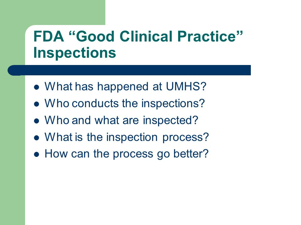 "The FDA Inspector Cometh"" - ppt video online download"