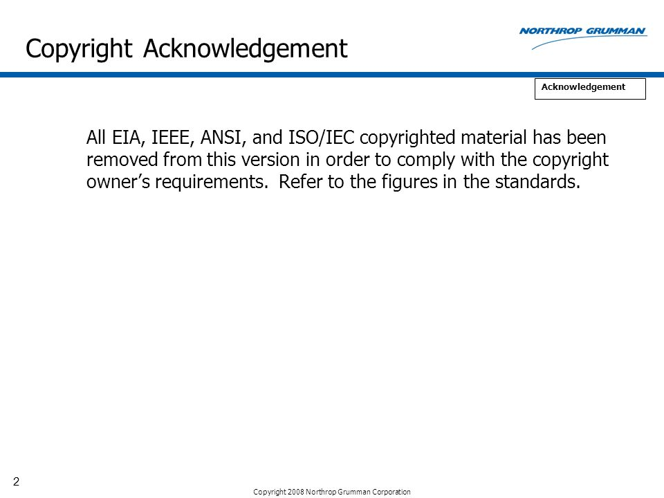 Copyright Acknowledgement