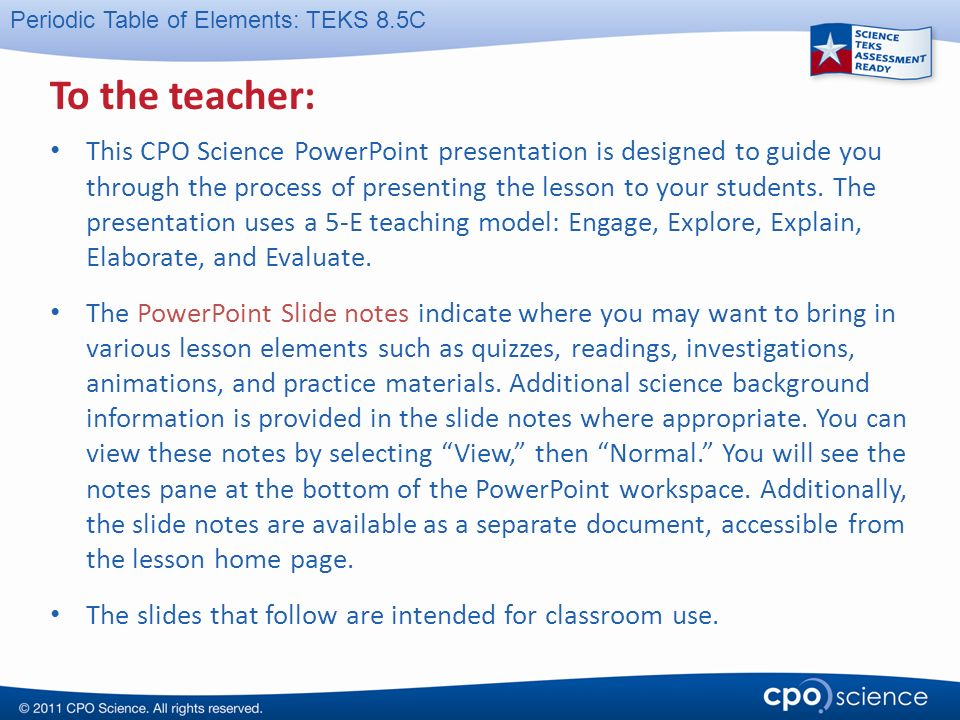 To the teacher this cpo science powerpoint presentation is designed to the teacher urtaz Images