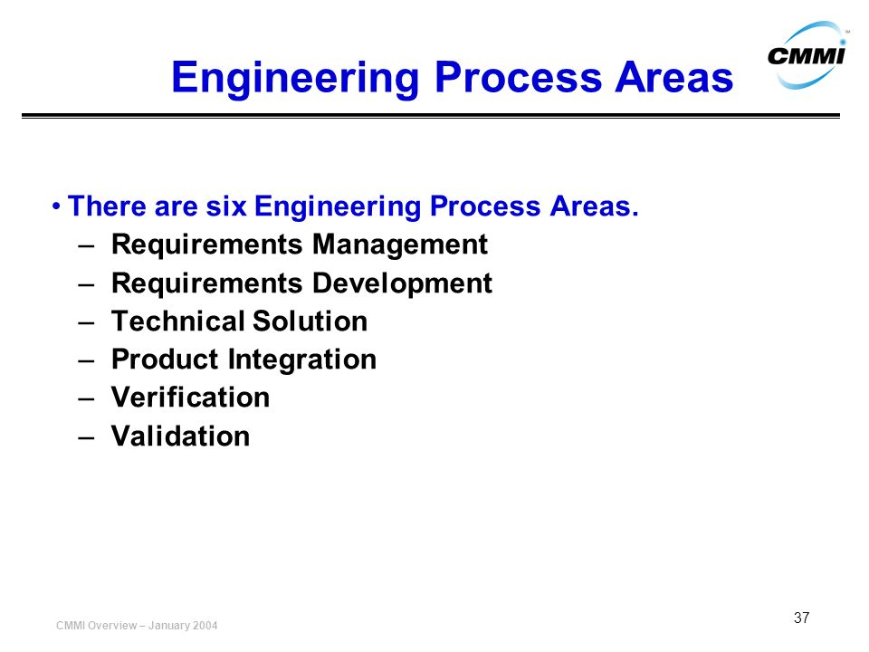 Engineering Process Areas