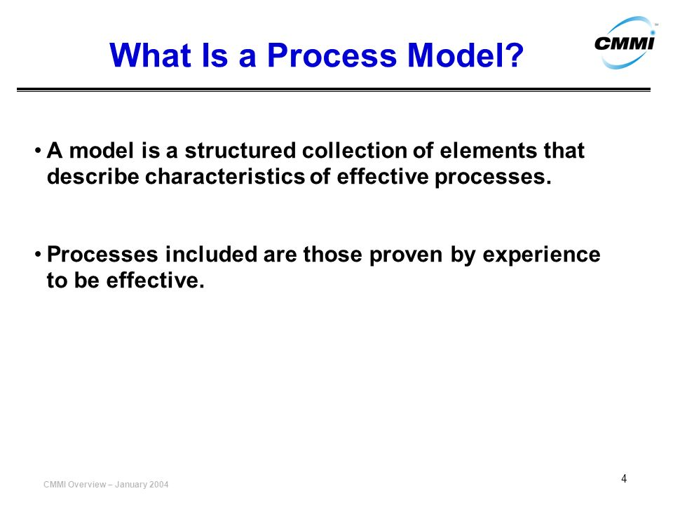 What Is a Process Model A model is a structured collection of elements that describe characteristics of effective processes.