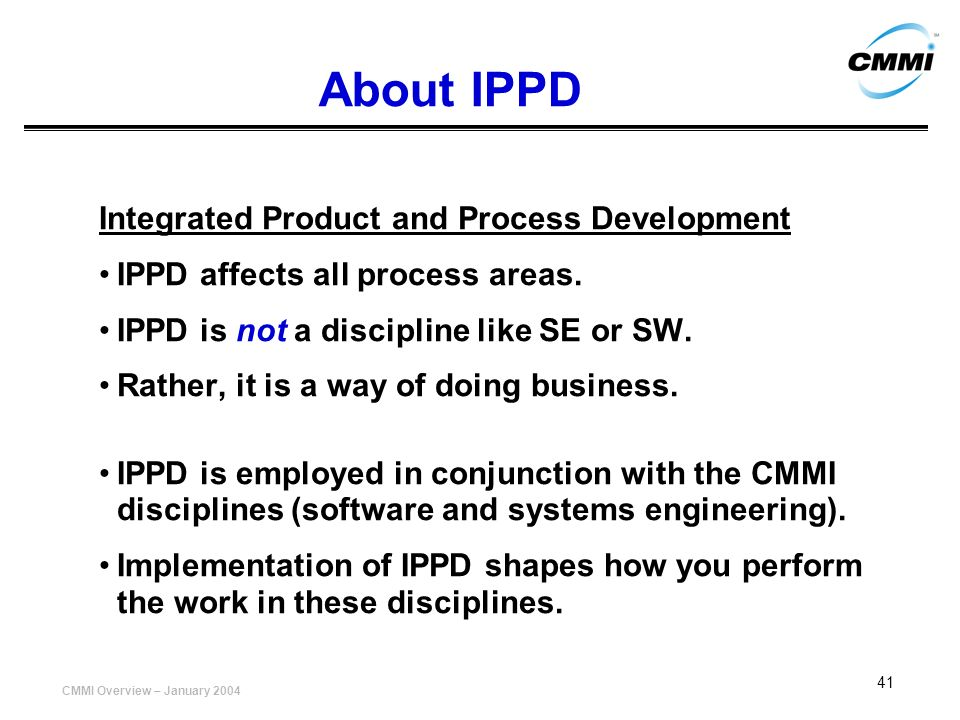 About IPPD Integrated Product and Process Development