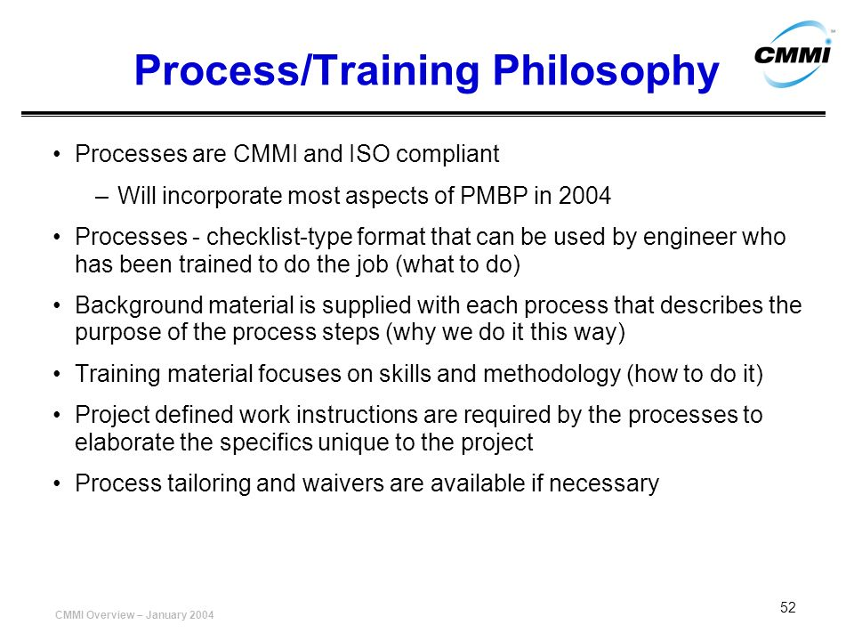 Process/Training Philosophy