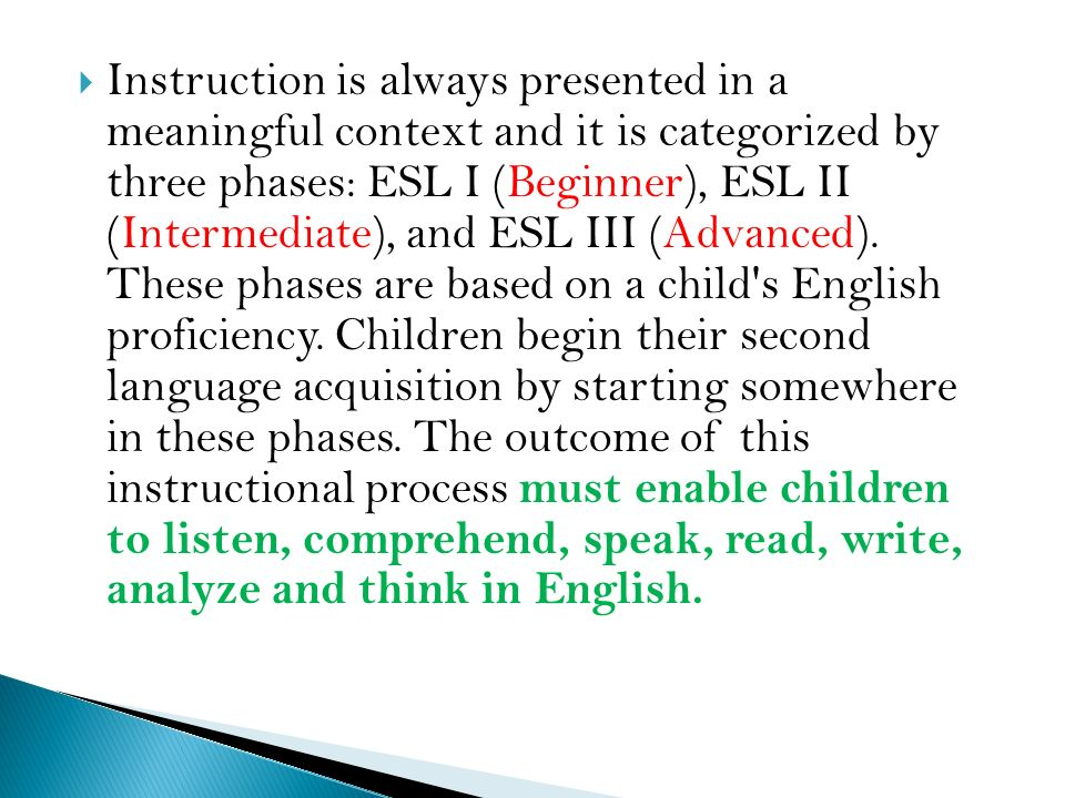 English-as-a-Second Language Programs - ppt video online download