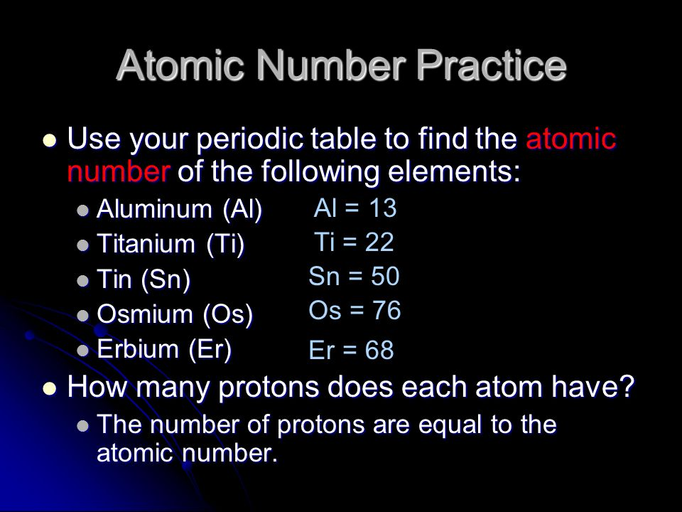 Properties of atoms and the periodic table ppt download atomic number practice urtaz Choice Image