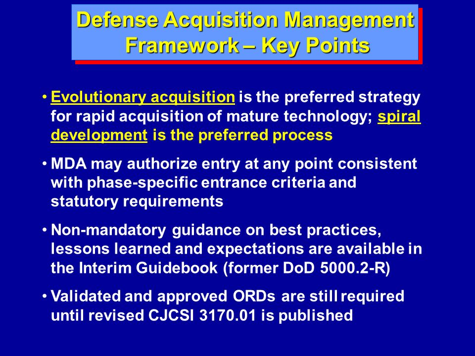 Defense Acquisition Management