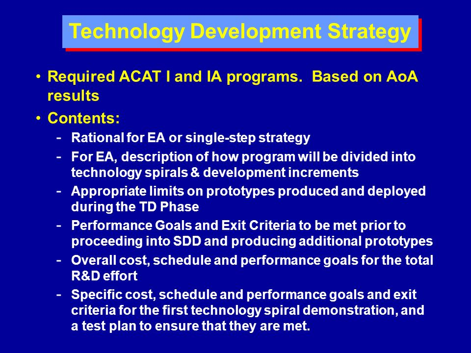 Technology Development Strategy