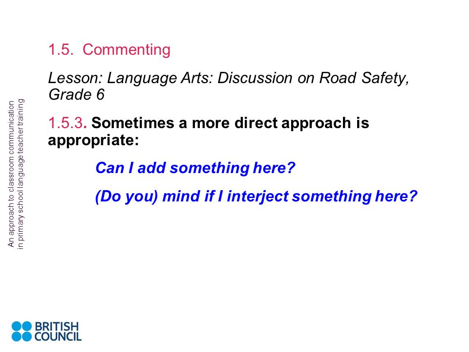 Lesson: Language Arts: Discussion on Road Safety, Grade 6