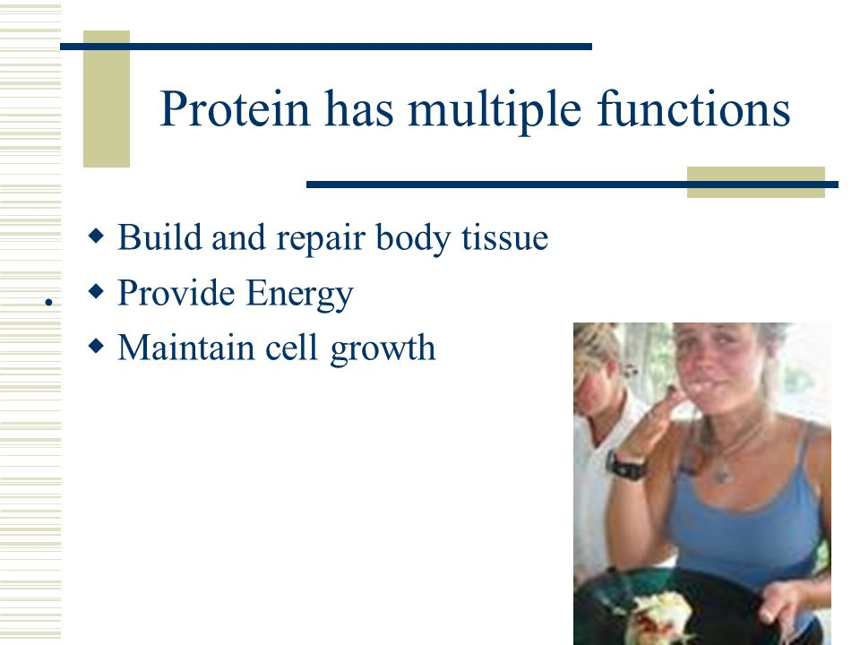Protein has multiple functions