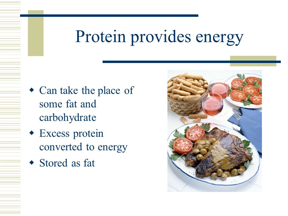 Protein provides energy
