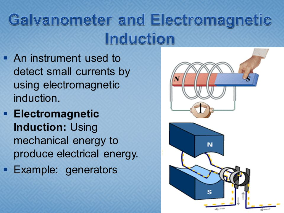 Galvanometer and Electromagnetic Induction