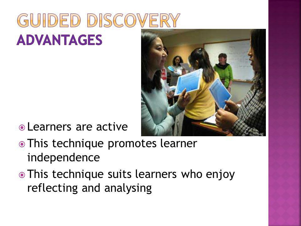 Guided Discovery advantages