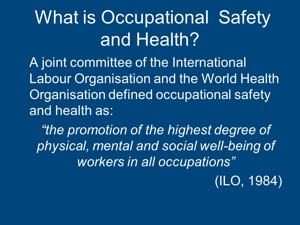 An Overview of the Safety and Health at Work Act Cap ppt