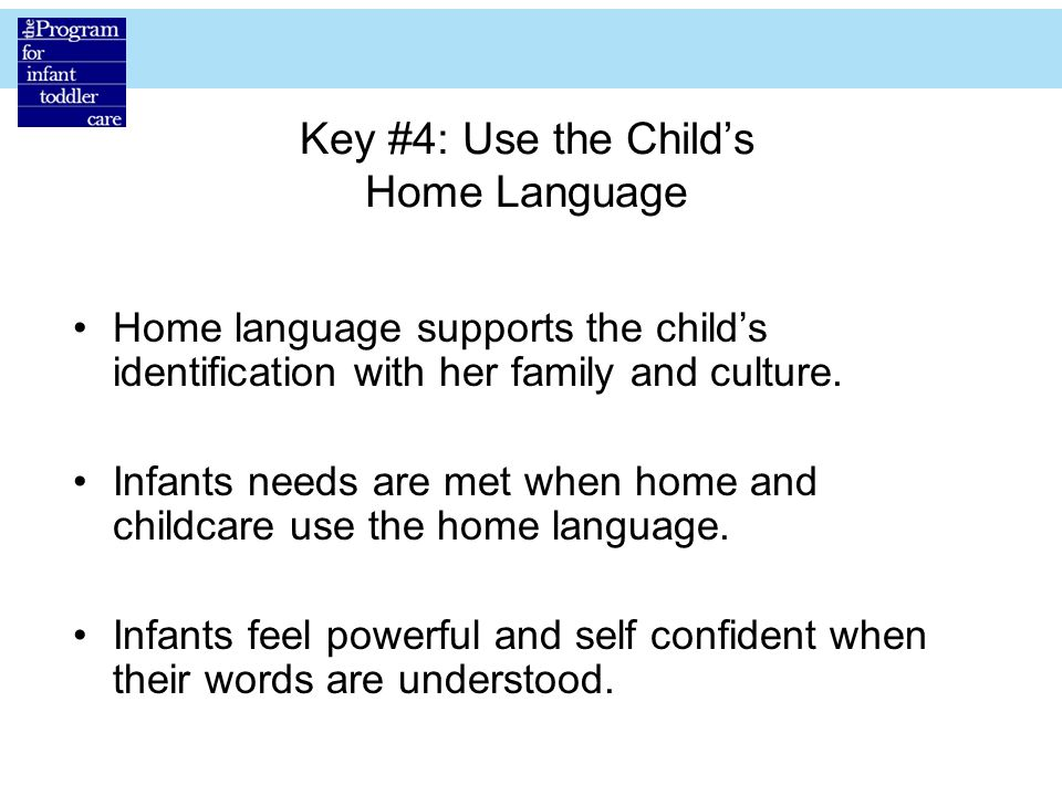 Key #4: Use the Child's Home Language