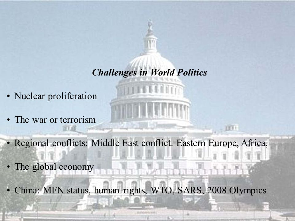 Challenges in World Politics