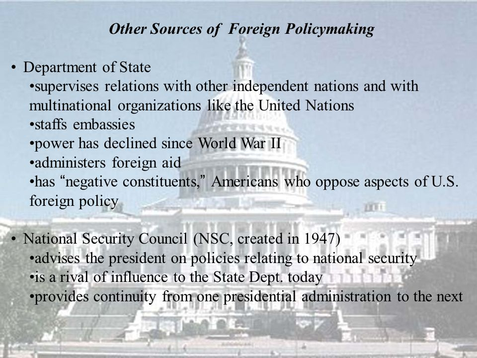 Other Sources of Foreign Policymaking