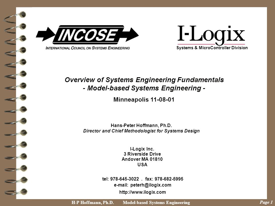 Overview of Systems Engineering Fundamentals