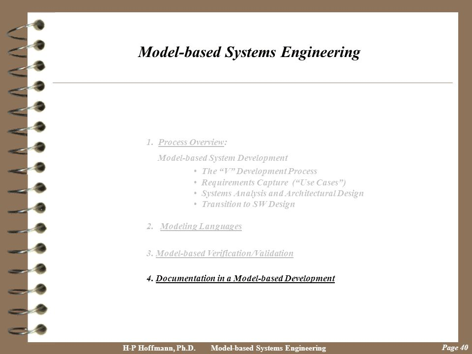 Model-based Systems Engineering