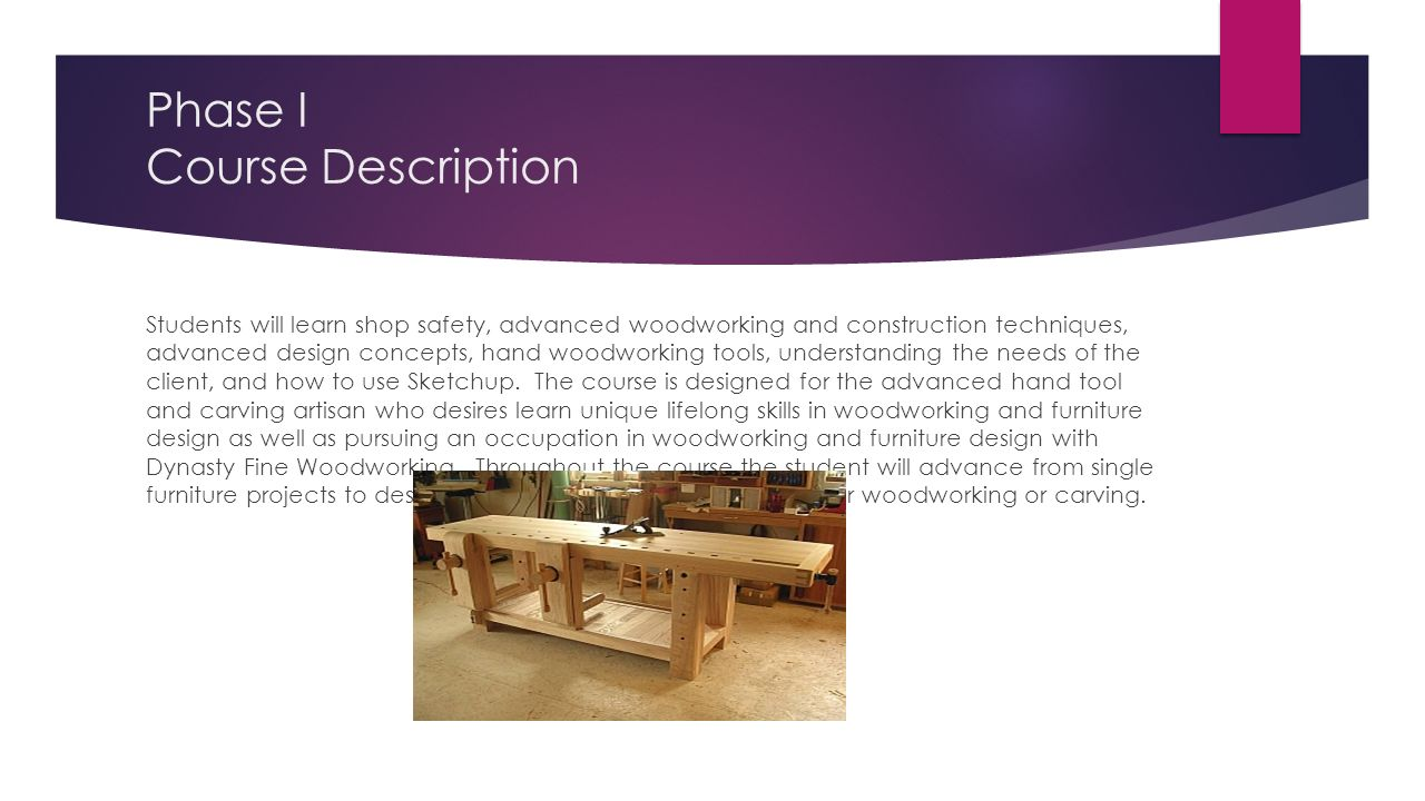 woodworking training for employment - ppt download