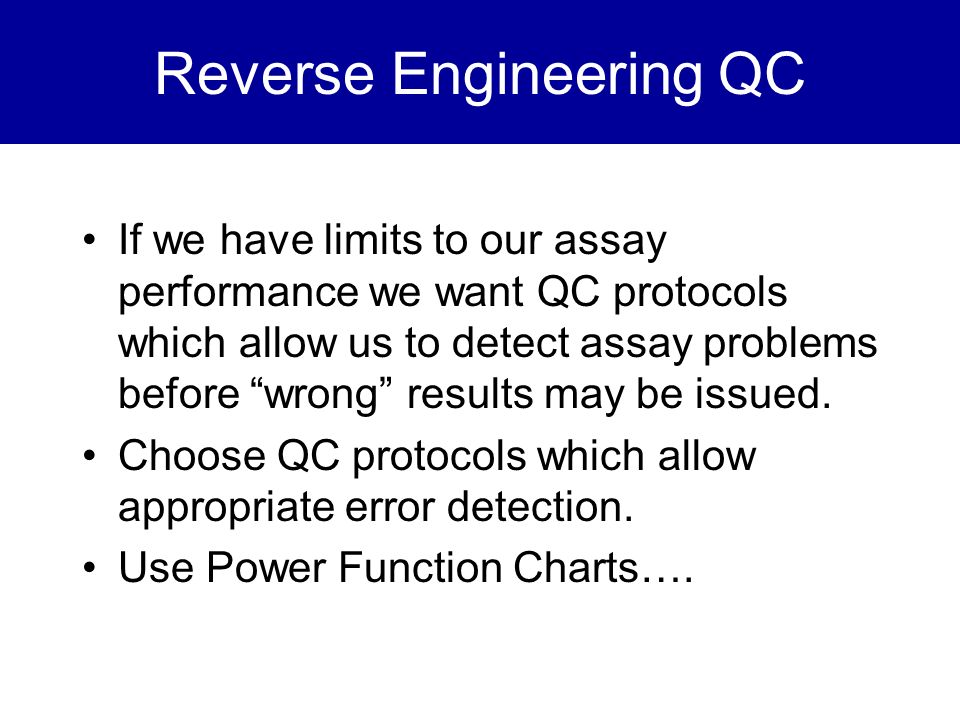 Reverse Engineering QC