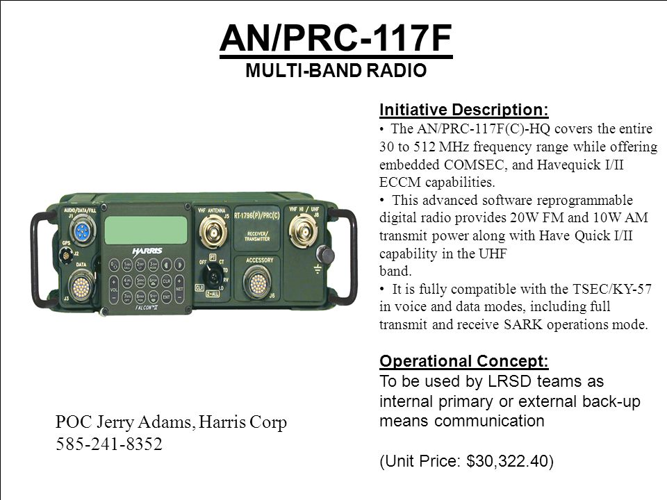 AN/PRC-150 HF system that is secure ( MHz) - ppt video