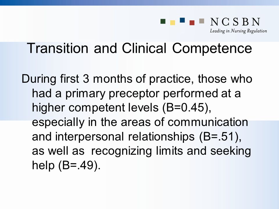 Transition and Clinical Competence