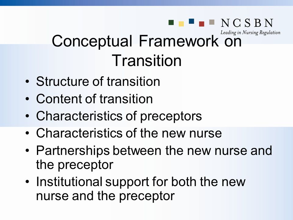 Conceptual Framework on Transition