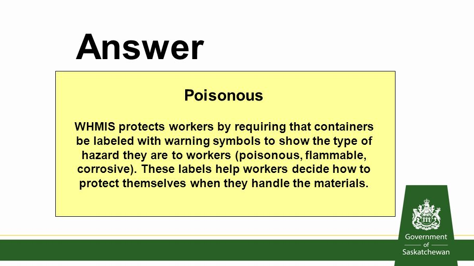 Occupational Health And Safety Interactive Quiz Ppt Video Online