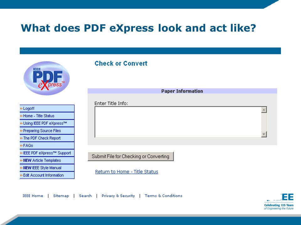 What does PDF eXpress look and act like