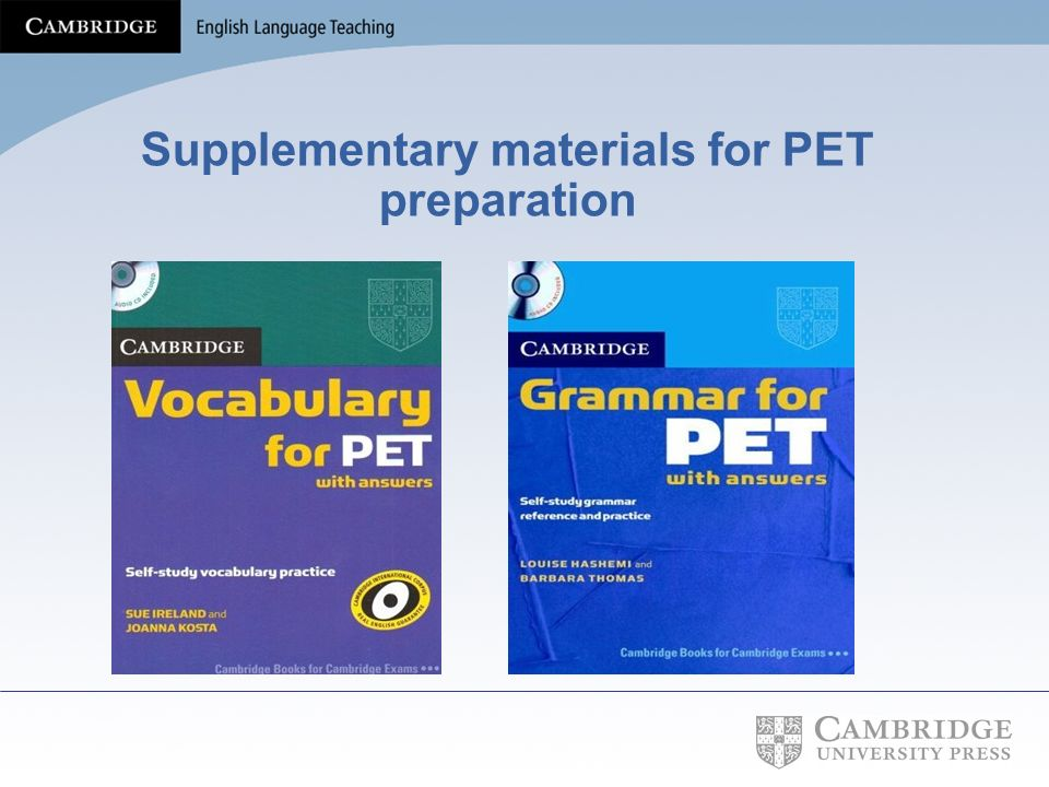 Supplementary materials for PET preparation