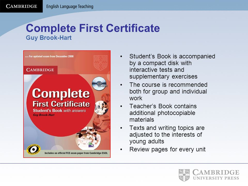 Complete First Certificate Guy Brook-Hart