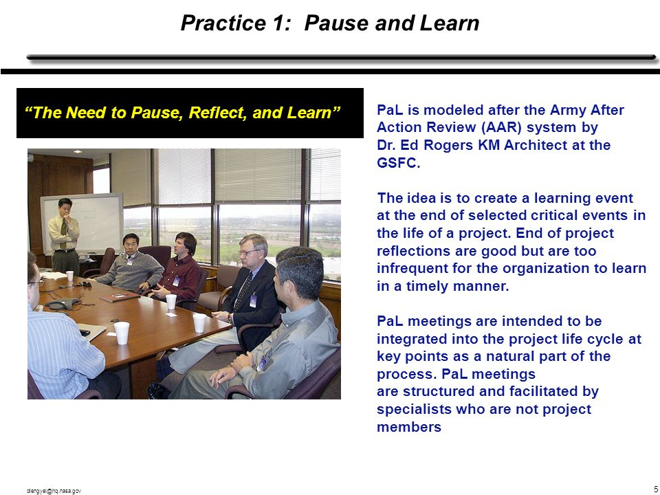 Practice 1: Pause and Learn