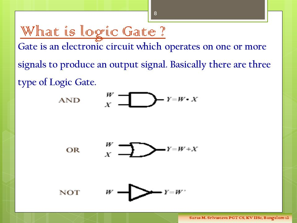 What is logic Gate