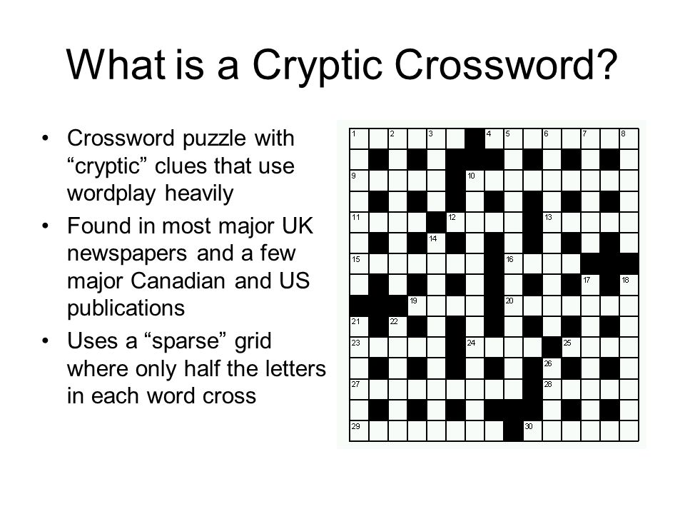 Introduction To Cryptic Crossword Clues Ppt Video Online Download